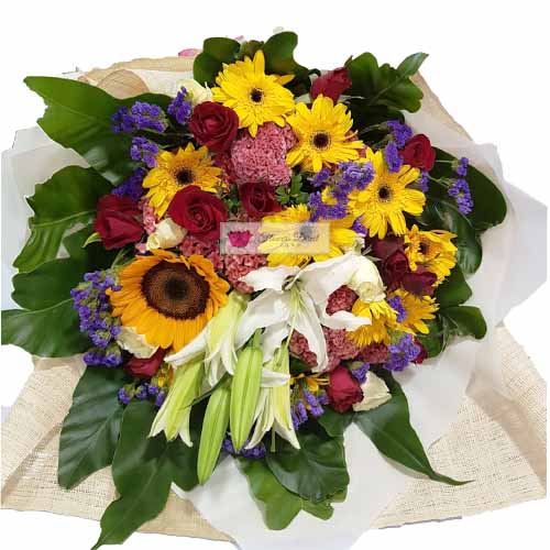 birthday mix cebu mix of flower include red roses sunflowers
