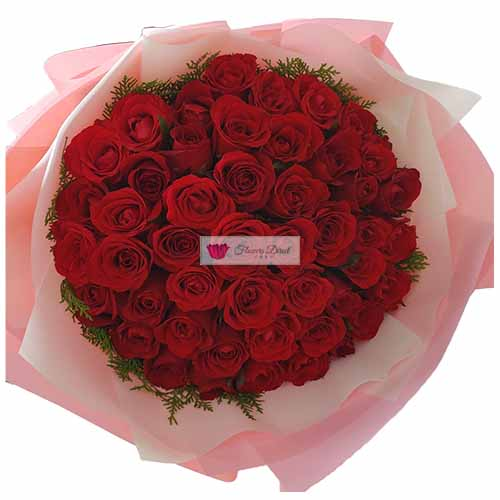 4 Dozen Roses Cebu in a nice wrap, roses can be red or pink.