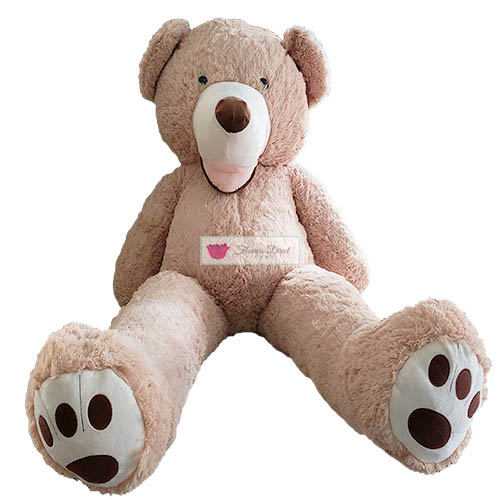 "4 Foot Teddy Bear Cebu is real and in stock. Bear is 46""-50"" actual standing length."
