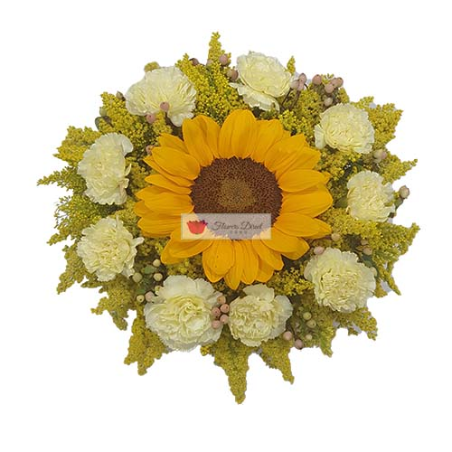 sun burst flowers wrapped by flowers direct cebu