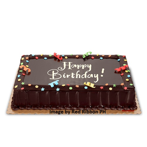 "Cebu Birthday Cake Delivery Chocolate Dedication Cebu Birthday Cake 8"" x 8"" or 8"" x 12"""