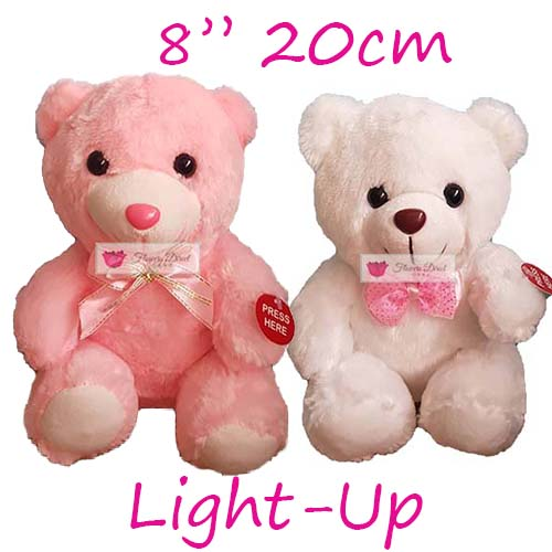 "Small Teddy Bear Cebu Delivery choose White or Pink. Similar products that are also available; 12"", 18"" and 24"". Small teddy bear, 5 star service with delivery and satisfaction guaranteed."