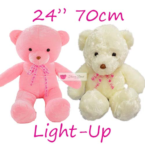 "Stuffed Teddy Bear Cebu 24"" Light-up. Stuffed Teddy Bear Cebu Similar products that are also available; 8"", 12"" and 18"". Stuffed teddy bear Cebu choose white or pink."