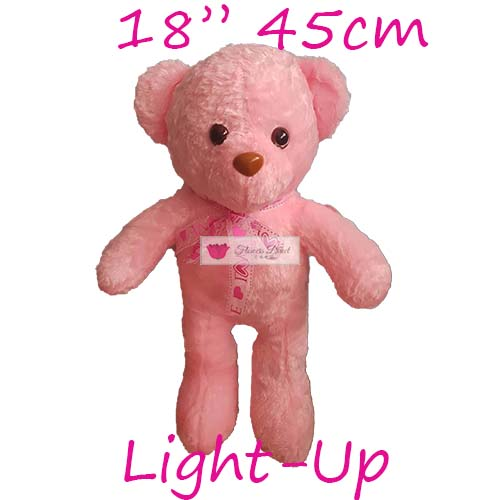 "18"" light up bear cebu stuffed teddy bear for delivery pink"