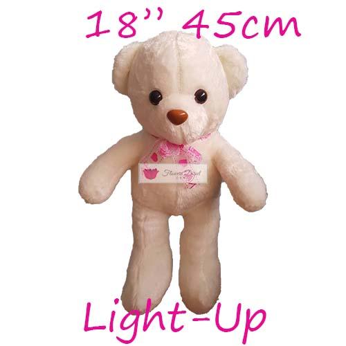 "18"" light up bear cebu stuffed teddy bear for delivery white"