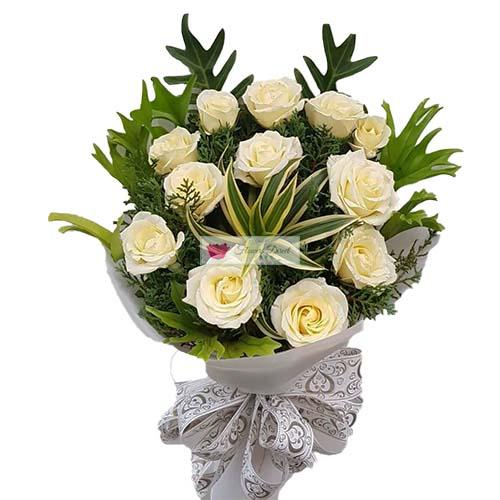 white rose one dozen fdcebu