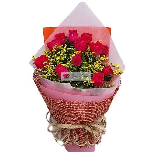 Pink roses Cebu 12 Pink Roses Wrapped.