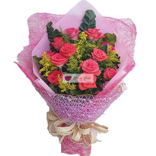 pink roses one dozen fdcebu