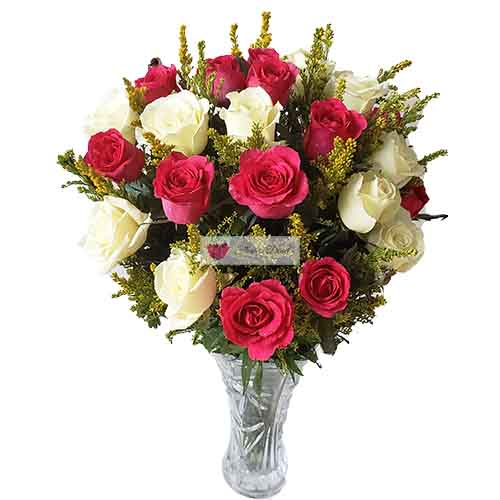 White Pink Roses Cebu 2 dozen  Pink and White Roses in a nice wrap or clear glass vase.