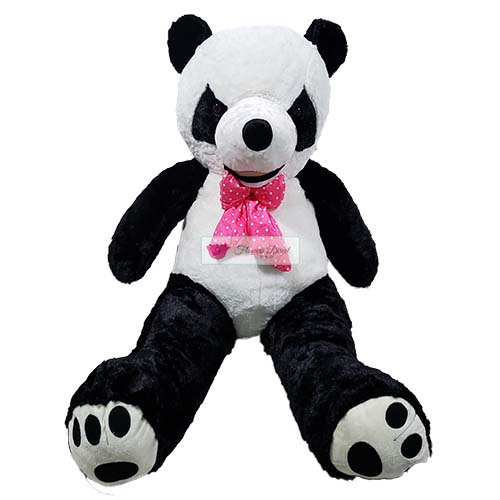 "4 Foot Panda Bear Cebu is real and in stock. Bear is 45""-50"" actual standing length."