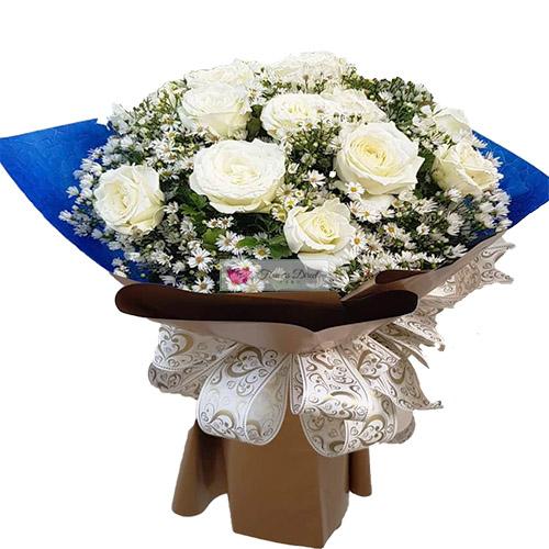 Birthday White Roses