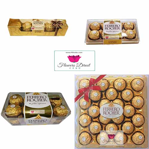 Ferrero Rocher chocolate candy Cebu Available in 5ct, 8ct, 16ct and 24ct. 5 star service with delivery and satisfaction guaranteed.