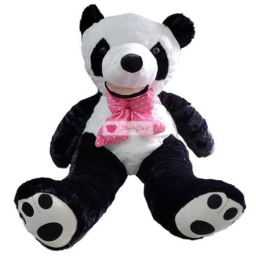 "5 Foot Panda Bear Cebu is real and in stock. Bear is 57""-63"" actual standing length."