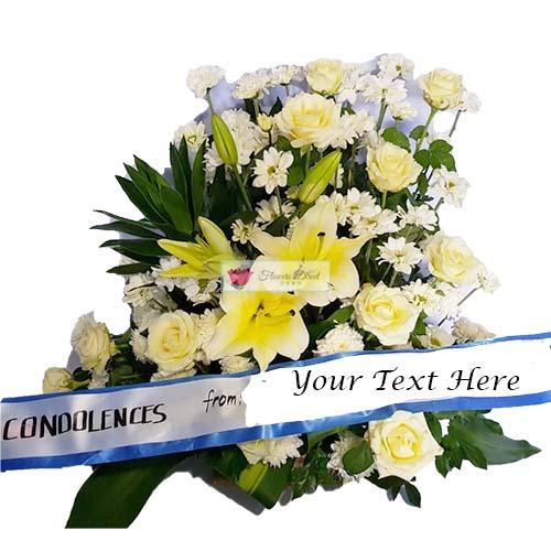 Sympathy arrangement cebu Flowers