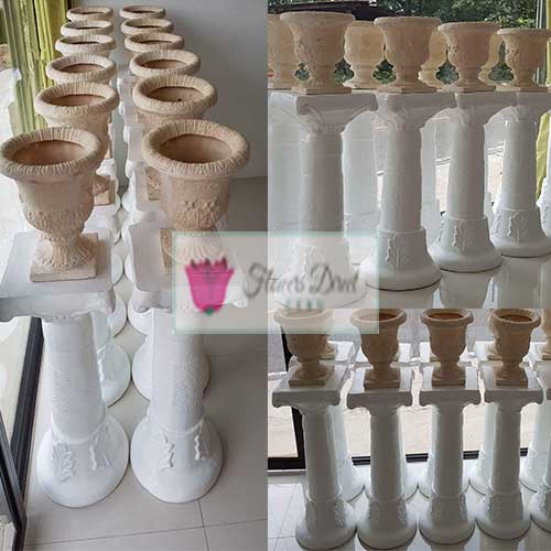 Wedding Isle Flower Stand Rental Cebu City We have 12 flower stand sets for rent, one set includes the stand and matching pot as shown in the picture. Terms p250 each set for 48 hours rental. p250 each set refundable deposit upon good condition return