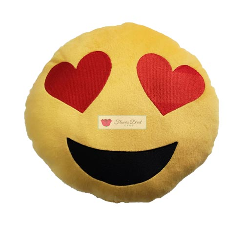 Emoji Pillow Cebu Heart face, Kiss face or Smile face stuffed emoji pillows are 12 inches or 30cm. Soft and fluffy for sure they will love it.