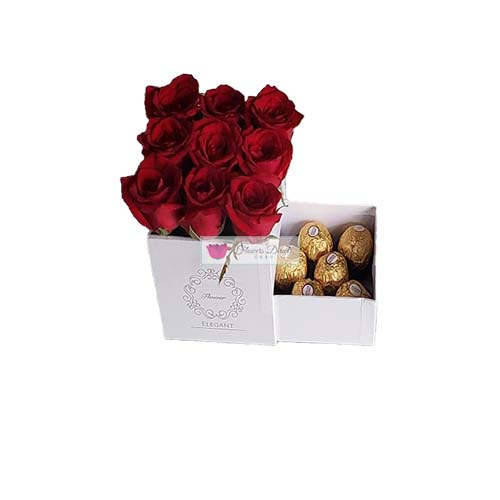 Gift Box of rose Cebu White