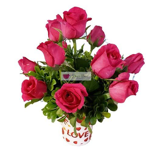 cup of pink roses cebu