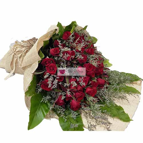 Hundred Roses Cebu, 100 Red Roses in a wrap. Also available in Pink Roses.