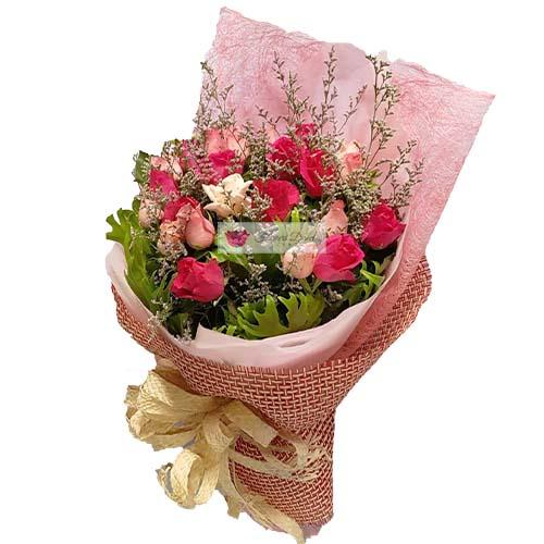 pink peach roses cebu fdcebu