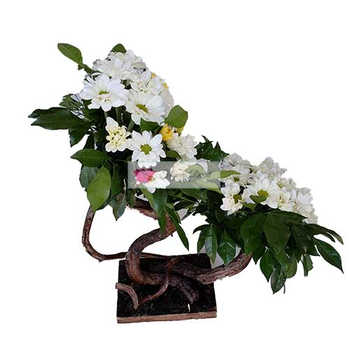 Sympathy FloralStand Cebu #39 is about 2 feet tall. This is a simple design for someone with a smaller budget.