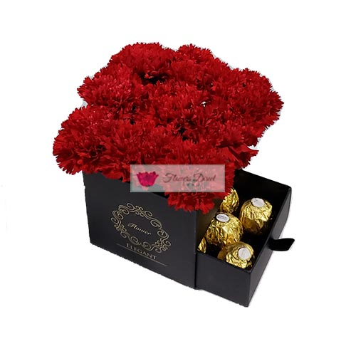 carnation gift box red fdcebu