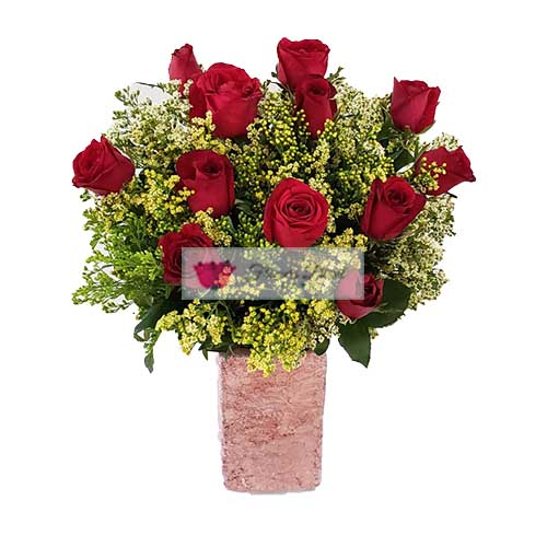 cebu valentines day roses, 12 Red Roses in a nice vase.
