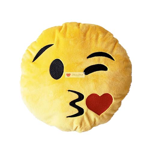 emoji pillow kiss face