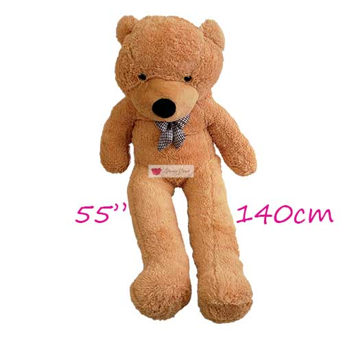 giant teddy bear cebu 55 inches 5 feet brown stuffed teddy bear cebu human size