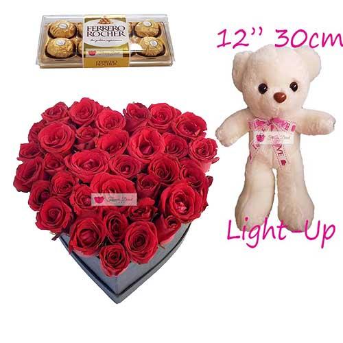 flower heart box cebu by fdcebu