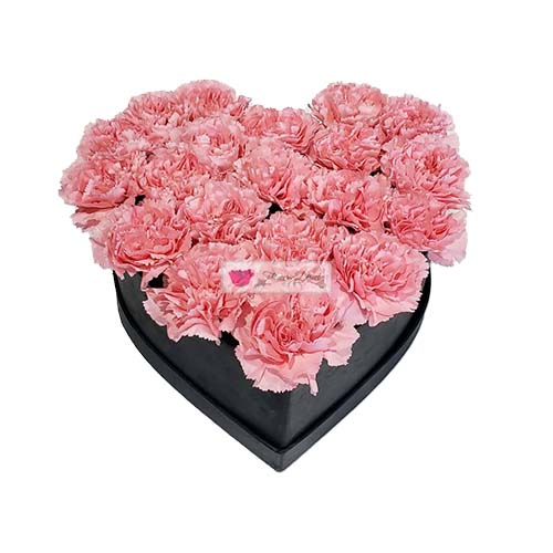 Carnation Heart Box Cebu 1