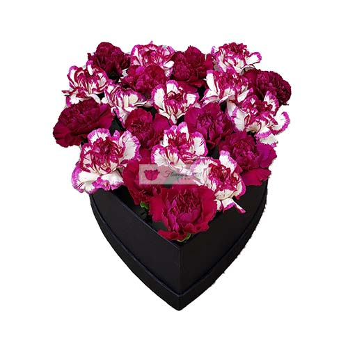 Carnation Heart Box Cebu