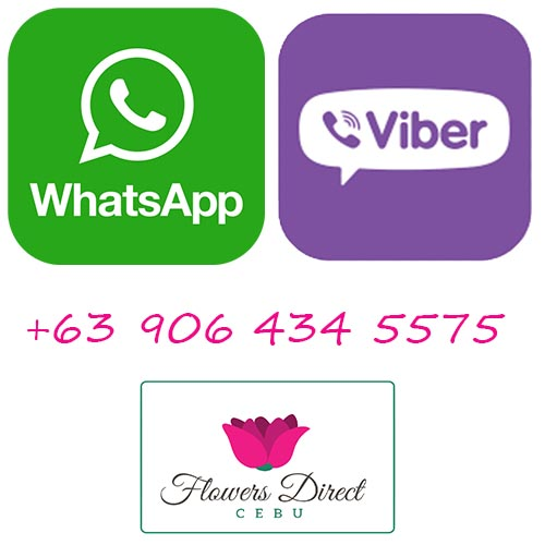 Phone Number for Flowers Direct Cebu whatsapp viber
