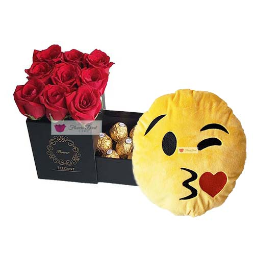 Box Flowers With Emoji