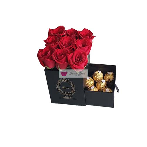 Gift Box of rose Cebu Black