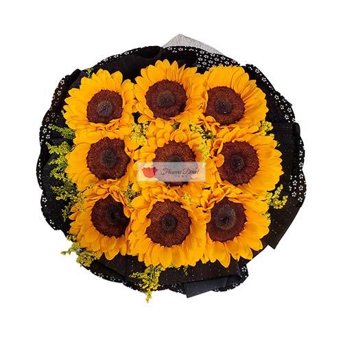 Sunflowers of Cebu bouquet of six nine